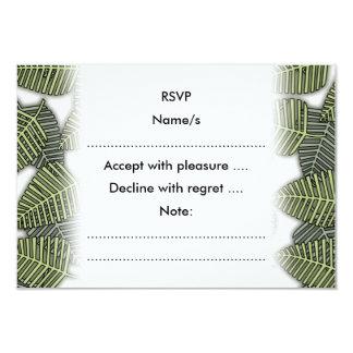 Teste padrão tropical da folha convite 8.89 x 12.7cm