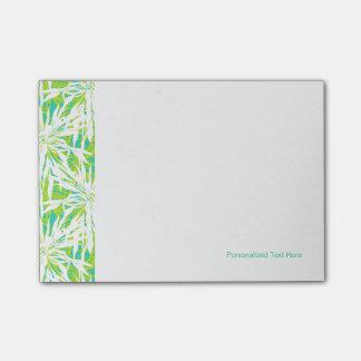 Teste padrão tropical das folhas de palmeira post-it notes