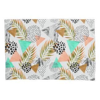 Teste padrão tropical geométrico abstrato da folha