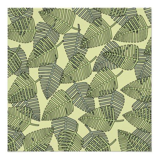 Teste padrão tropical verde das folhas convite personalizados