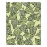 Teste padrão tropical verde das folhas panfletos personalizados