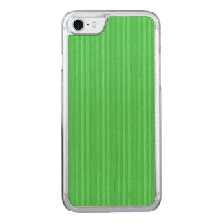 Teste padrão verde-claro das listras verticais capa iPhone 7 carved
