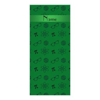 Teste padrão verde conhecido personalizado do geek 10.16 x 22.86cm panfleto