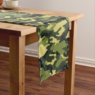Teste padrão verde da camuflagem caminho de mesa pequeno