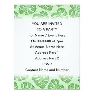 Teste padrão verde da folha, folhas de Monstera Convite 10.79 X 13.97cm