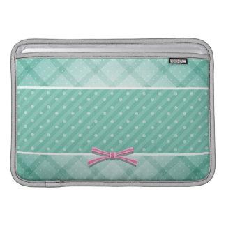 Teste padrão {verde} das bolinhas bolsa para MacBook air