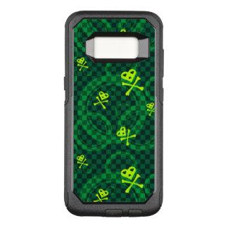 Teste padrão verde de Emo com círculos Capa OtterBox Commuter Para Samsung Galaxy S8