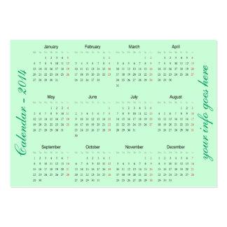 Teste padrão verde de paisley do aqua do calendári cartão de visita grande