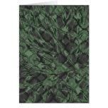 Teste padrão verde de Quatrefoil da camuflagem Cartões