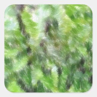 Teste padrão verde diferente adesivo quadrado
