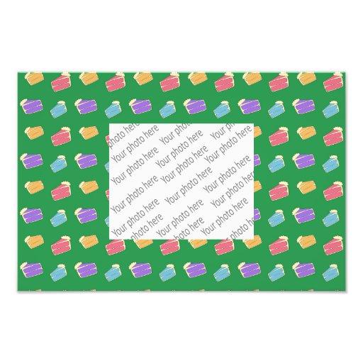 Teste padrão verde do bolo fotografias