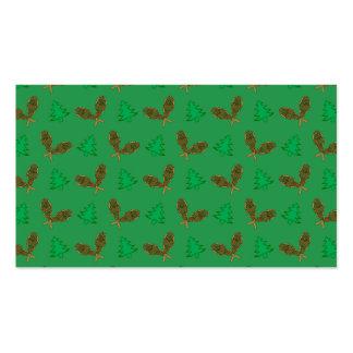 Teste padrão verde do sapato de neve modelo cartão de visita
