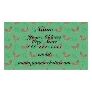 Teste padrão verde do sapato de neve cartão de visita