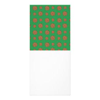 Teste padrão verde dos biscoitos dos pedaços de ch 10.16 x 22.86cm panfleto