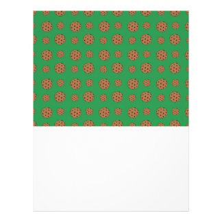 Teste padrão verde dos biscoitos dos pedaços de ch panfleto personalizado