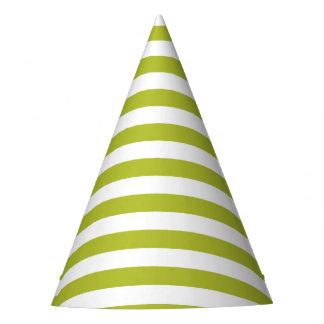 Teste padrão verde e branco da listra chapéu de festa
