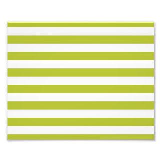 Teste padrão verde e branco da listra impressão de foto