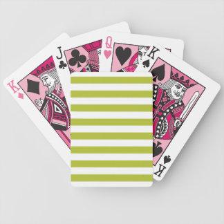 Teste padrão verde e branco da listra jogos de cartas