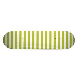 Teste padrão verde e branco da listra shape de skate 19,7cm