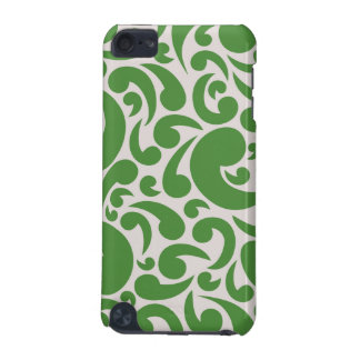 Teste padrão verde elegante capa para iPod touch 5G