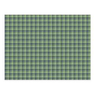 Teste padrão verde sem emenda do azulejo no caso cartão postal