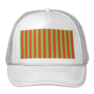 Teste padrão verde vermelho das listras boné