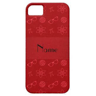 Teste padrão vermelho conhecido personalizado do capa para iPhone 5