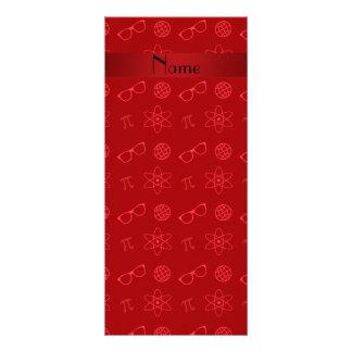 Teste padrão vermelho conhecido personalizado do g 10.16 x 22.86cm panfleto