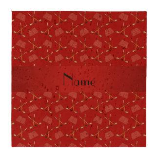 Teste padrão vermelho conhecido personalizado do porta copos