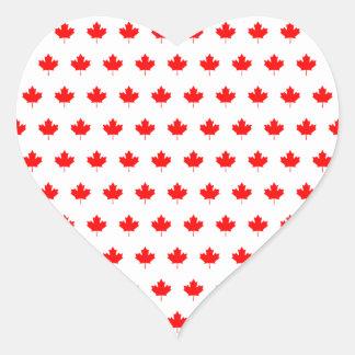 Teste padrão vermelho da folha de bordo adesivo em forma de coração