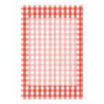 Teste padrão vermelho da verificação do guingão papel personalizado