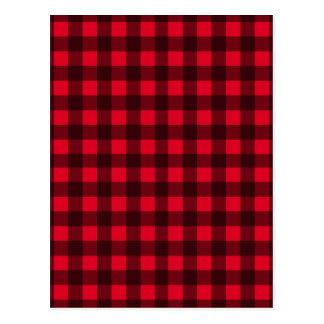 Teste padrão vermelho da xadrez cartão postal