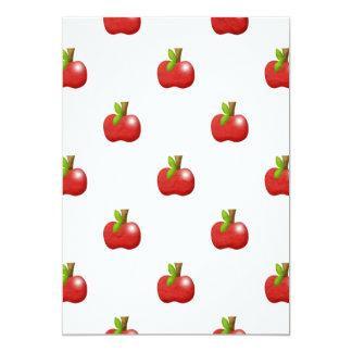 teste padrão vermelho delicioso das maçãs convites