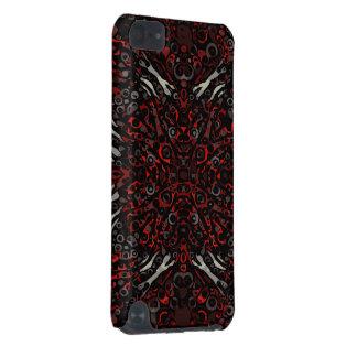 Teste padrão vermelho do abstrato da zebra do fogo capa para iPod touch 5G