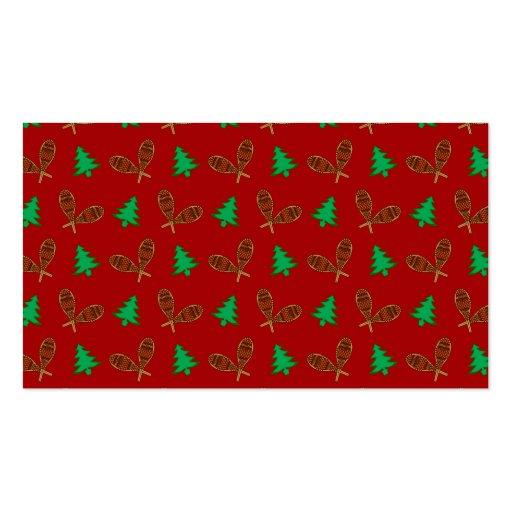 teste padrão vermelho do sapato de neve cartoes de visita