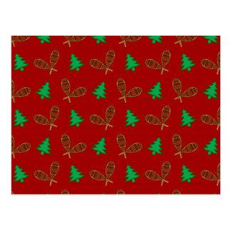 teste padrão vermelho do sapato de neve cartão postal