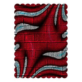 Teste padrão vermelho e branco convite personalizados