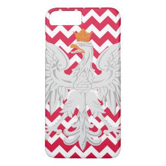 Teste padrão vermelho e branco de Eagle polonês de Capa iPhone 7 Plus