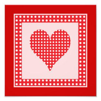 Teste padrão vermelho e branco do coração das boli arte de fotos