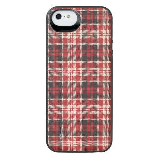 Teste padrão vermelho e preto da xadrez capa carregador para iPhone SE/5/5s