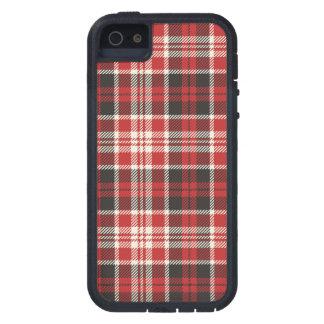 Teste padrão vermelho e preto da xadrez capas para iPhone 5