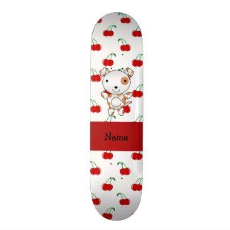 Teste padrão vermelho personalizado da cereja do c shape de skate 18,1cm