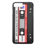 Teste padrão vermelho retro engraçado da cassete capa iPhone 7 plus