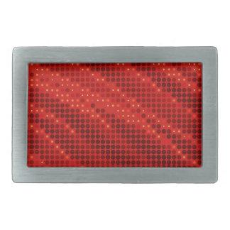 Teste padrão vermelho vibrante do ponto & de onda