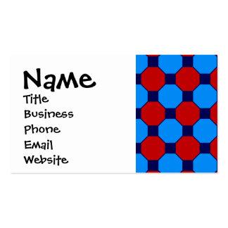 Teste padrão vibrante vermelho e do azul dos cartão de visita