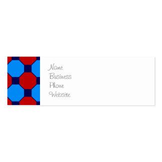 Teste padrão vibrante vermelho e do azul dos cartão de visita skinny