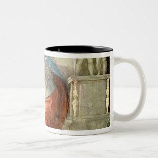 Teto da capela de Sistine: Sibyl Delphic Caneca De Café Em Dois Tons