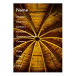 Teto de madeira da flor cartão de visita grande