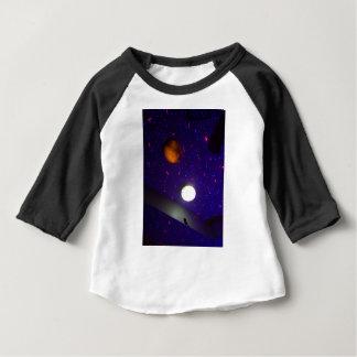 Teto do espaço camiseta para bebê
