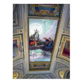 Teto do museu do vaticano cartão de Roma, Italia